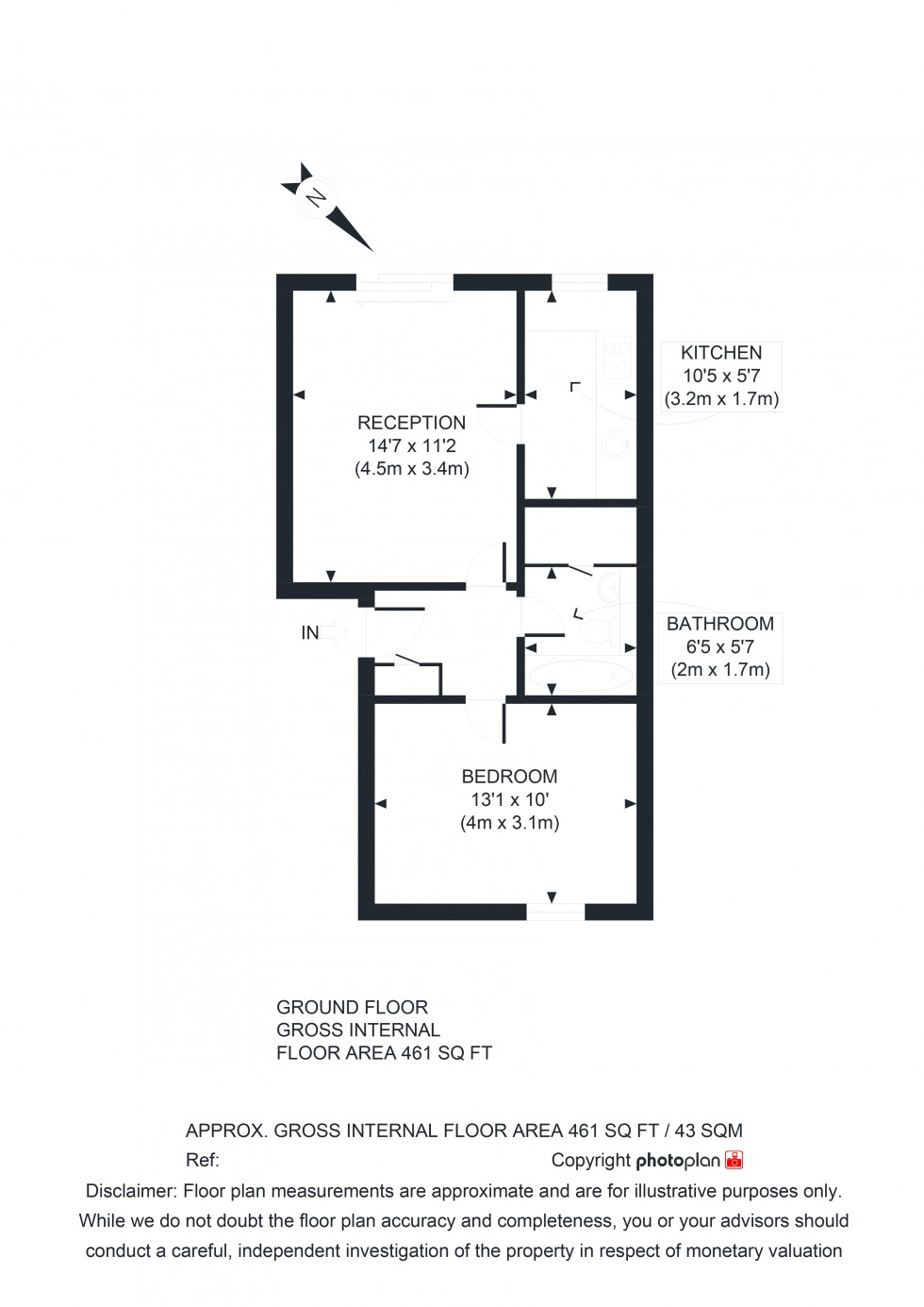 Floorplan for Bournewood Road, Orpington