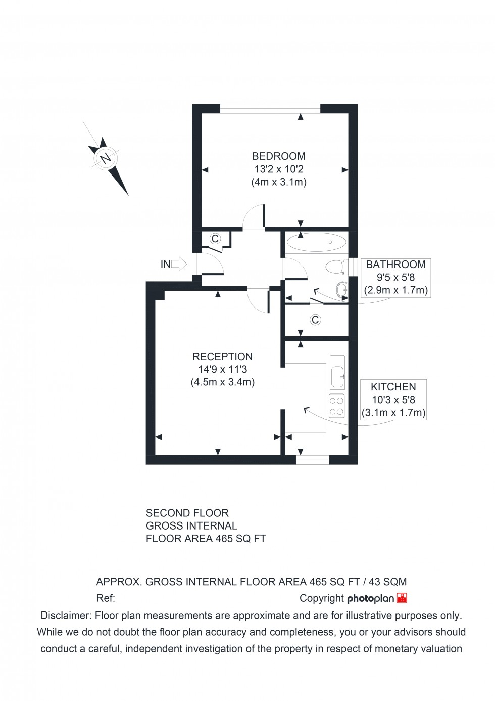 Floorplan for Dyke Drive, Orpington