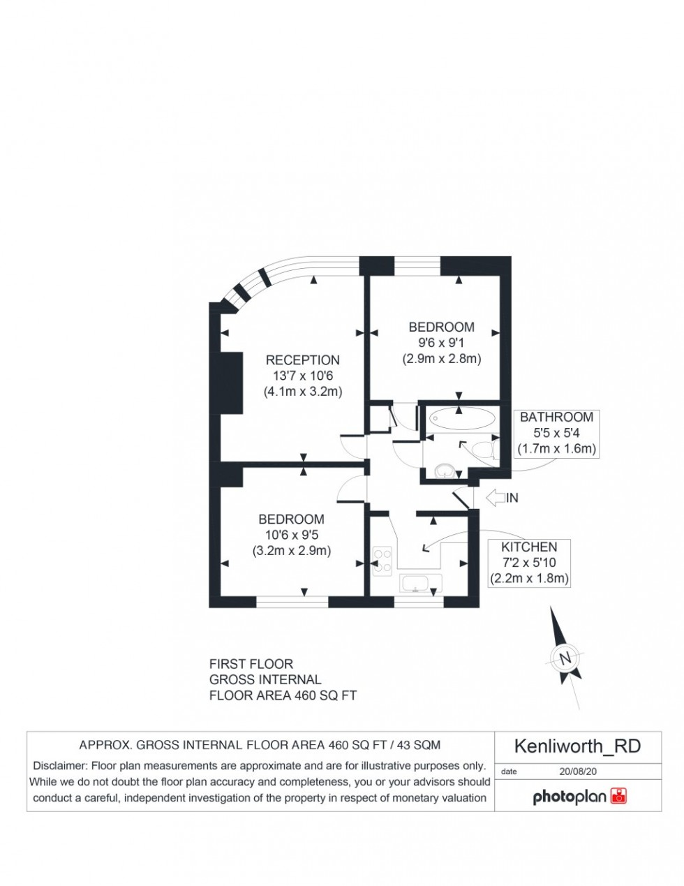 Floorplan for Kenilworth Road, Petts Wood