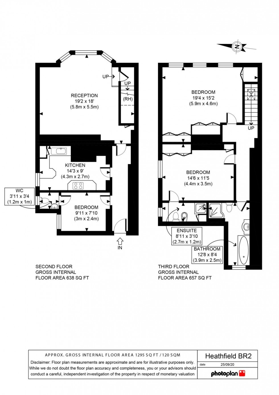 Floorplan for HEATHFIELD ROAD, KESTON